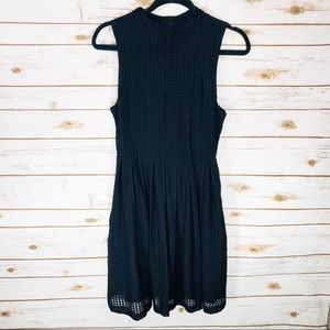 Deletta Solid Black Dress by Anthropologie